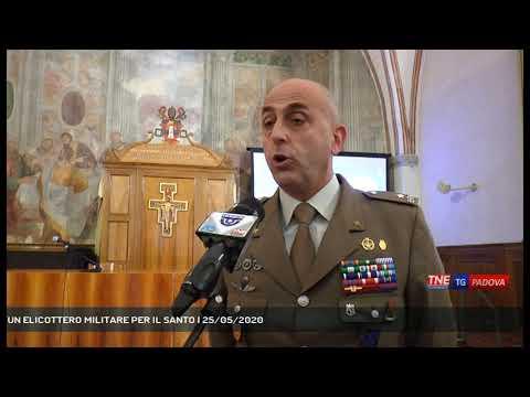 UN ELICOTTERO MILITARE PER IL SANTO   25/05/2020