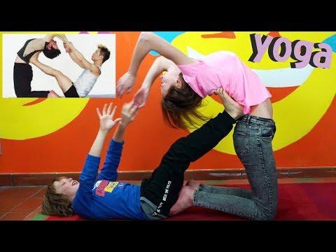 YOGA CHALLENGE con Alena - Maschi vs Femmine : Yoga per bambini - Video divertente - Canale Nikita