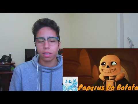 REACT [LUTA] Steven Universo VS Sans o Esqueleto (Batalha de Rap)Em Português (Papyrus da Batata)