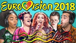 Video ADULTS REACT TO EUROVISION SONG CONTEST 2018 MP3, 3GP, MP4, WEBM, AVI, FLV September 2018