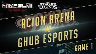 Acion vs GHub, game 1
