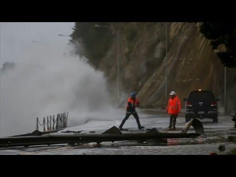 """Neuseeland: Sturm """"Fehi"""" sorgt für Zerstörung"""