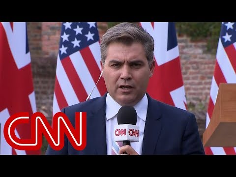 President Trump refuses question from CNN's Jim Acosta
