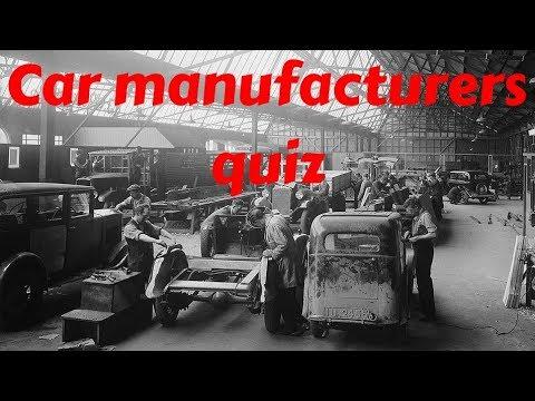 Big car manufacturers quiz