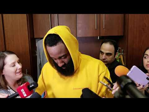 James Harden after Rockets loss to Warriors