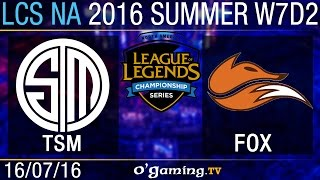 Echo Fox vs TSM - LCS NA Summer Split 2016 - W7D2