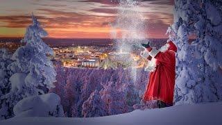 Voyage en Finlande. Le Père Noël présente Rovaniemi, sa ville natale officielle en Laponie