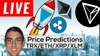 Price Predictions: Tron ($TRX), Ethereum ($ETH), Ripple ($XRP), Stellar ($XLM), Verge ($XVG) & More!