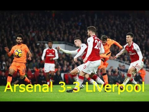 Arsenal vs Liverpool 3-3   All Goals & Highlight HD   EPL 22-12-2017