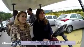 #TOURSBT _Brasil_ Angelique Boyer visita las instalaciones del SBT