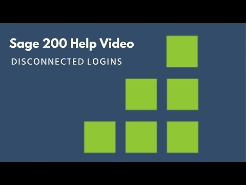 Sage 200 Help - Disconnected Logins
