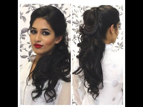 Simple Party Indian Hairstyles Indian Party Hairstyle