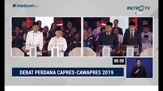 Video Debat Perdana Pilpres 2019 Part 1 - Visi Misi Capres Cawapres MP3, 3GP, MP4, WEBM, AVI, FLV Januari 2019