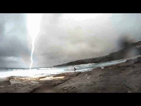 Lightning Almost Strikes Girl