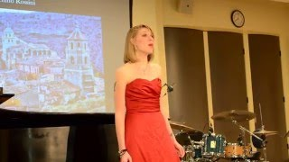 Aragonese, Gioachino Rossino Performed by Anastasia Hagermann at the Mary Pappert School of Music, Duquesne University graduation recital.