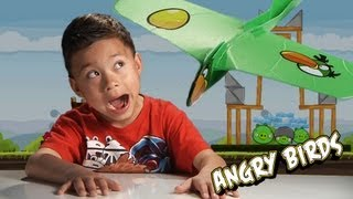 ATTACK of the Angry Birds SUPER LOOPER Boomerang Bird Plane! + EPIC FAILS!!!