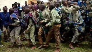 xhosa intiation in bizana kwanikhwe(stimela sase qonce) 2015 december. boys returns from initiation school as young adults(amadodana).