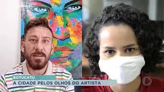 Artista plástico de Botucatu faz obras nas paredes e muros do município