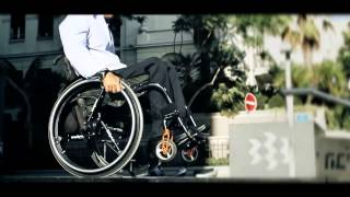 SoftWheel- Product display in a wheelchair