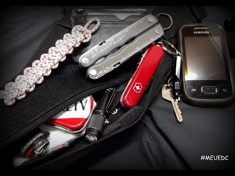 #MEUEDC / EDC MINI POCHETE / FANNY PACK FOR EDC / LEATHERMAN BLAST / VICTORINOX TOURIST