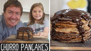 Churro Pancakes by  My Virgin Kitchen