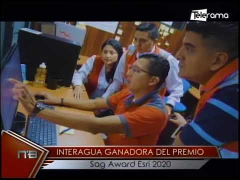 Interagua ganadora del premio Sag Award Esri 2020