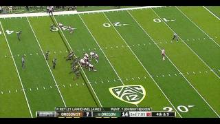 Lamichael James vs Oregon State 2011