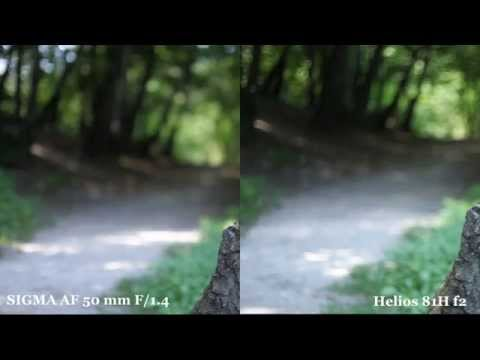 Sigma 50mm 1.4 EX DG HSM vs Helios 81H test