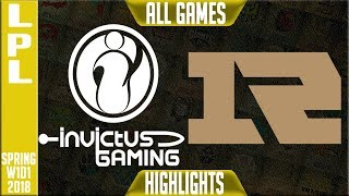 Video IG vs RNG Highlights ALL GAMES | LPL Spring 2018 S8 W1D1 | Invictus Gaming vs Royal Never Give Up MP3, 3GP, MP4, WEBM, AVI, FLV Agustus 2018