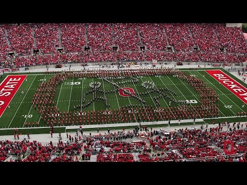 State - The Ohio State Marching Band is joined by the Ohio State Alumni Band to honor the armed forces. Featuring four Script Ohios.