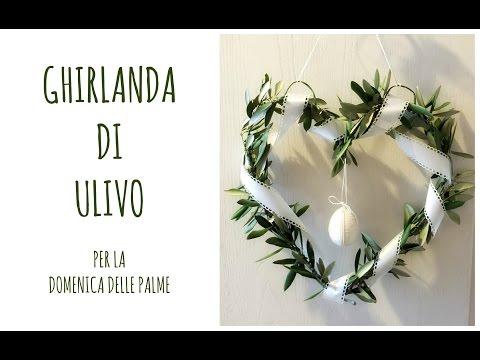 shabby chic - ghirlanda d'ulivo
