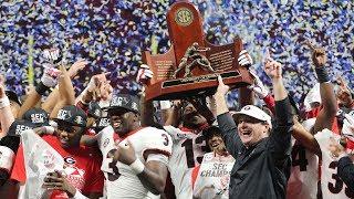 #6 Georgia Highlights Vs. #2 Auburn 2017   SEC Championship 2017   College Football Highlights 2017
