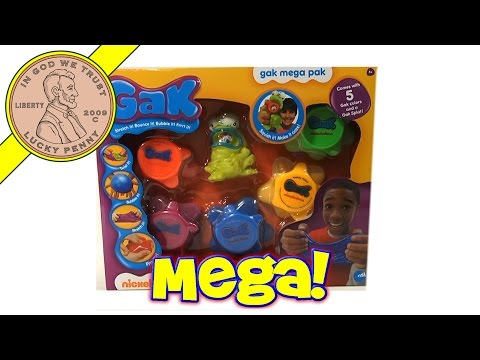gak - Get This Item From the Lucky Penny Shop! http://luckypennyshop.com/nickelodeon-gak-mega-pak/ Watch our product feature video for Nickelodeon GAK Mega Pak. Up...
