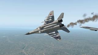 Video Jet Fighter Aircrafts Mig.29 Fly Dangerously Close The Concorde On The Sky | X-Plane 11 MP3, 3GP, MP4, WEBM, AVI, FLV Desember 2018