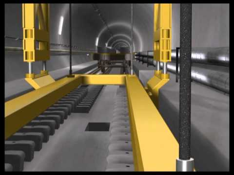 tunnel - Saint Gotthard Base Tunnel, on the new railway connection under the Alps, is a total of 57 kilometres long, making it the longest railway tunnel under constr...