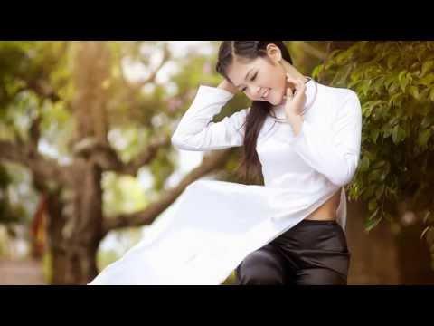 Áo dài trắng Thanh Mai