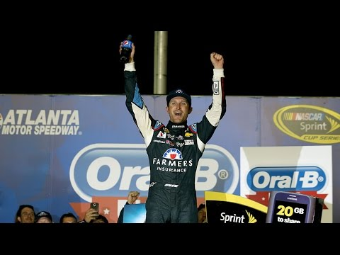 celebrates - Kasey Kahne describes his fight to the finish in the final laps to earn his first win of 2014 and a way in the Chase for the Sprint Cup. For more NASCAR news, check out: http://www.NASCAR.com.
