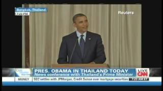 President Obama Prime Minister Yingluck Shinawatra Bangkok Thailand (November 18, 2012) [1/4]