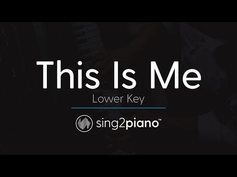 Video This Is Me [LOWER Piano Karaoke] Keala Settle & The Greatest Showman Ensemble download in MP3, 3GP, MP4, WEBM, AVI, FLV January 2017