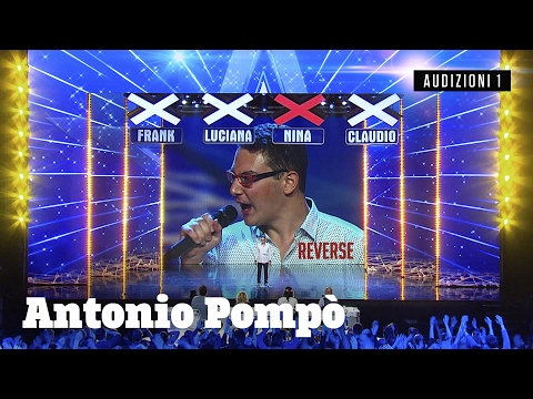 italia's got talent - antonio canta al contrario