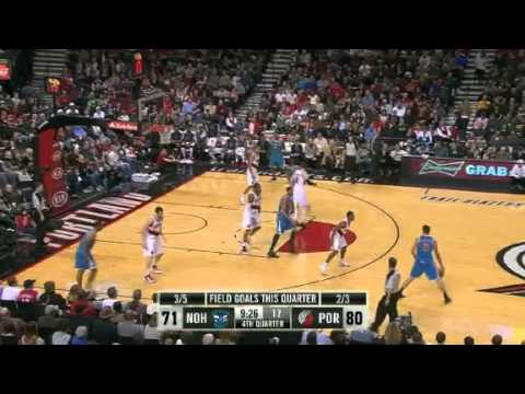 New Orleans Hornets 94 – Portland Trail Blazers 95
