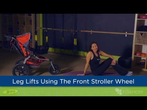 Leg Lifts Using the Front Stroller Wheel - Stroller Strides