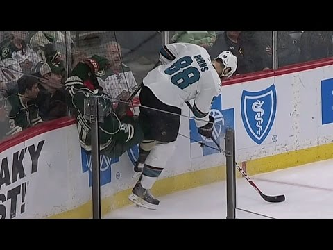 Video: Parise recovers from Burns hip check to score slick tip-in goal