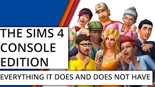 Sims 4 on Console - What it does and does not have