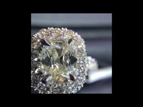 Henri Daussi Engagement Rings - Diamond Halo Setting