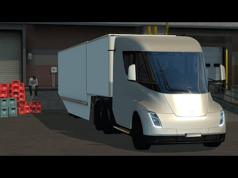 Tesla Semi Truck with Trailer 2019 - ETS2 1.31.x