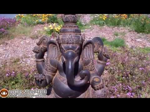 SOLD Garden Ganesh Statue on Cobra 40