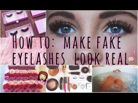 Make Fake Eyelashes Look Real! | my tips & tricks ?