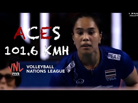Powerful Serve Volleyball ACES (101.6 KM/H) by Onuma Sittirak | VNL 2018