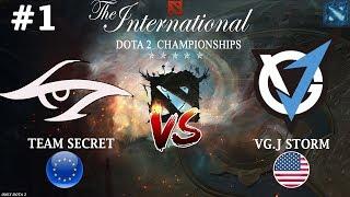 МИПО от Сикрет на TI8! | Secret vs VGJ.Storm #1 (BO3) | The International 2018